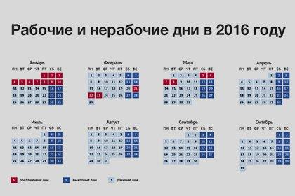 Правительство РФ уточнило список выходных на 2016 год